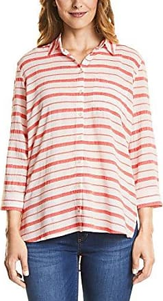 Street One Print Blouse with Smock-Shoulder, Blusa para Mujer, Rosa (Studio Rose 10978), 42 (Talla del Fabricante: 40)