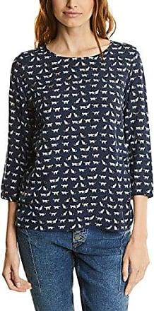 Street One QR Moni, Camiseta para Mujer, Azul (Night Blue 20109), 40 (Talla del Fabricante: 38)