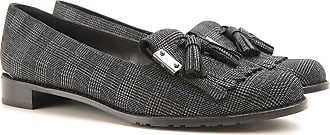 Loafers for Women On Sale, Black, Coated Canvas, 2017, 2.5 Stuart Weitzman