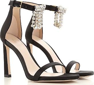 Sandals Heeled Womens On Sale, Black, Silk, 2017, US 5.5 (EU 36) US 6.5 (EU 37) US 7.5 (EU 38) US 8.5 (EU 39) Stuart Weitzman