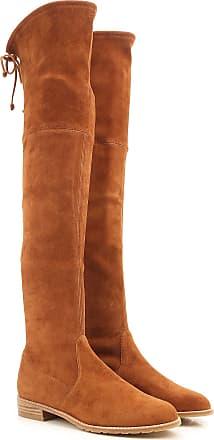Boots for Women, Booties On Sale, walnut, suede, 2017, 4 4.5 6 7.5 Stuart Weitzman
