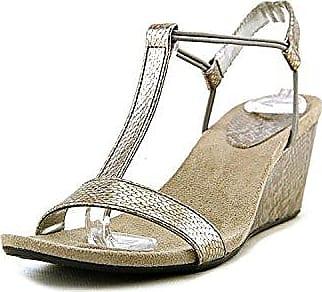 Style & Co. Frauen Haloe2 Offener Zeh Leger Sandalen mit Keilabsatz Weiss Groesse 5 US/35.5 EU