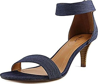 Style & Co. Frauen Mulan Offener Zeh Leger Sandalen mit Keilabsatz Gold Groesse 11 US/42 EU