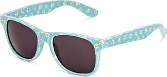 Sunoptic Lunettes Wayfarer Femme - Bleu - Blue/Yellow - FR : Taille unique (Taille fabricant : One Size)