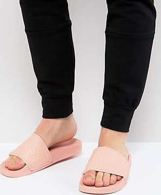Cali Logo Slider Flip Flops In Pink - Pink Supa Slydes