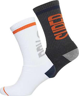 Mens M31004BP Sports Socks, Grey (Charcoal Mix Orange Mix), (Manufacturer Size: OS) Superdry