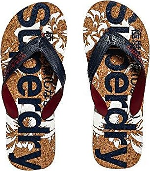 Printed Cork Flip Flop, Tongs Femme, Bleu (Eclipse Navy/Optic Hibiscus ND2), 40/41 EUSuperdry