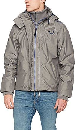 Tech Pop Zip Wndcheter NB, Chaqueta Deportiva para Hombre, Gris (Mid Grey Marl/Court Red NX4), XL Superdry