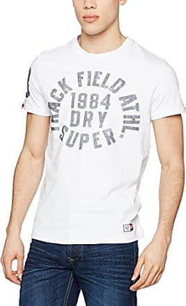 Posh Sport International tee, Camiseta para Hombre, Blanco (Swoosh White OW6), XX-Large Superdry