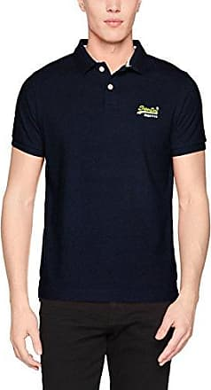 Classic S/S, Polo para Hombre, Azul (Bass Blue Grit MM7), M Superdry