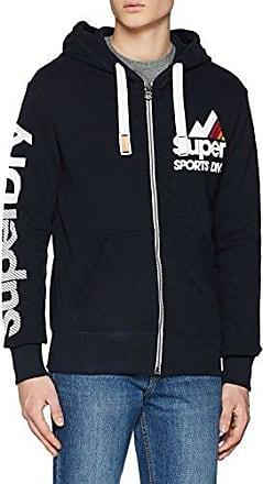 Superdry Mens Vintage Logo Duo Entry Hoody Mens Hoodies Shop Mens Hoodies COLOUR-dark marl