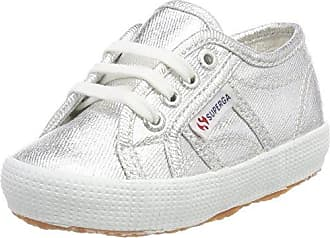 Superga 2750 Cotbumpvel, Baskets Mixte Enfant, Blau (Navy-Offwhite), 38 EU