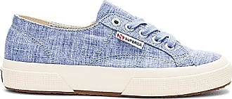 2750 Fabric Shirt Sneaker in Blue. - size 7.5 (also in 8.5,9.5) Superga