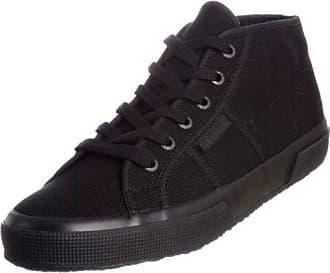 Superga 2754 Cotu, Unisex-Erwachsene Hohe Sneaker, Schwarz (Black-White), 36 EU,(2UK)
