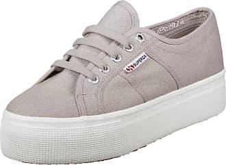 Superga 2790 pusnakew LIGHT GREY Plateau Scarpe Sneaker Beige Argento