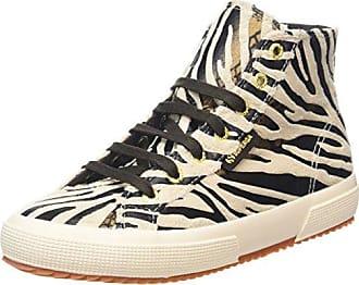 Superga 2795-fabricsynzebraw, Baskets Montantes Femme - Multicolore - Multicolore (Black/Bronze), 37 EU
