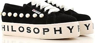 Sneakers for Women On Sale, Black, suede, 2017, ITA 38 - USA 7.5 - UK 5 ITA 39 - USA 8.5 - UK 6 Superga