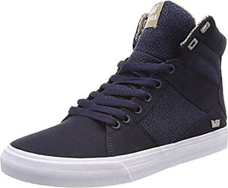 Scissor, Sneakers Basses Homme, Noir (Black/Risk Red-White), 42.5 EUSupra