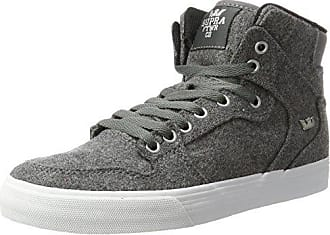 Supra Vaider, Sneakers Basses Homme, Gris (Charcoal Wool/White), 42.5 EU