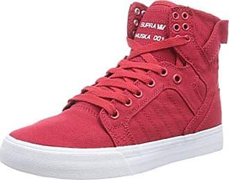 Supra Unisex-Kinder Skytop Sneaker, Rot (Red/White), 37.5 EU