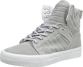 SKYTOP S18162, Unisex - Erwachsene Sportive Sneakers, Grau (GREY - WHITE GRY), EU 45.5 (UK 10.5) (US 11.5) Supra