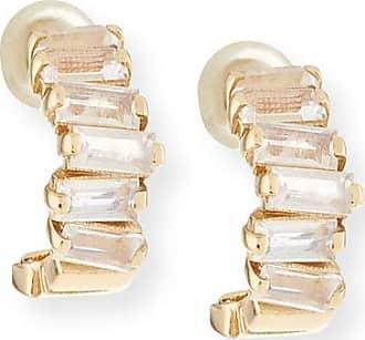 Suzanne Kalan 14k Mini Moonstone Hoop Earrings