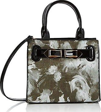 Damen Mila Floral Mini Handbag Umhängetasche, Schwarz (Black), 8x28x20 cm Swankyswans