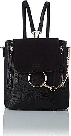 Damen Tina Backpack Bag Umhängetasche, Schwarz (Black), 11x23x21 centimeters Swankyswans