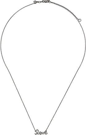 Sydney Evan Diamond F Necklace - Metallic