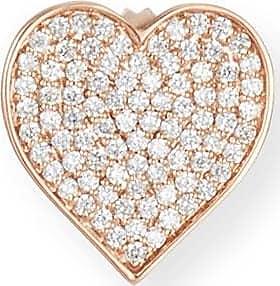 Sydney Evan Oversized Heart Stud Earring with Diamonds in 14K Rose Gold