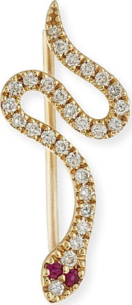 Snake 14kt gold earring with diamonds and rubies Sydney Evan