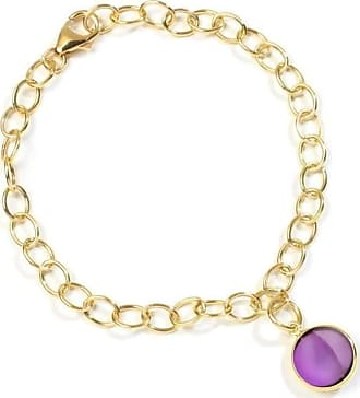Syna 18kt Amethyst Charm Bracelet