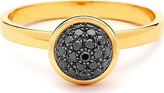 Syna 18kt Black Diamond Chakra Ring - UK N - US 6 1/2 - EU 54