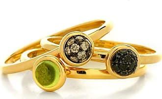 Syna Set of Three Mini Baubles Rings - UK N - US 6 1/2 - EU 54