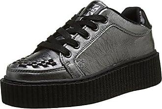 VLK D Ring Creeper Sneaker Blk/Leopard, Baskets Basses Mixte Adulte, Noir (Black/Leopard Canvas), 40 EUT.U.K.