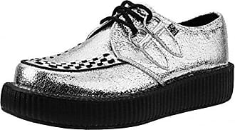T.U.K. Shoes Women's Teal Patent Viva Creeper EU41 / UKW8 UKM7