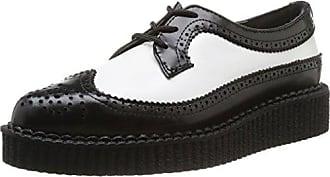 T.U.K. - Zapatos de cordones de lona para mujer azul Denim, color azul, talla 36