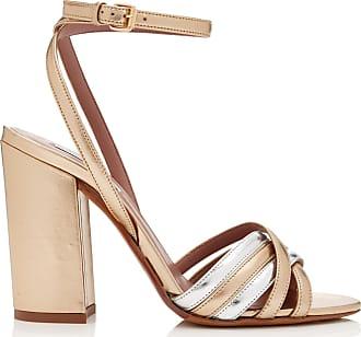 Sandales En Cuir Métallisé Bicolores Toni - DoréTabitha Simmons