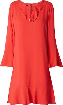 Kurzes Kleid mit V-Ausschnitt und Satinborten MKT