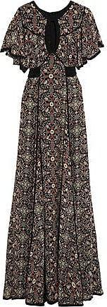 Talitha Woman Raj Cutout Printed Silk-georgette Maxi Dress Black Size XS Talitha