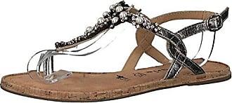Tamaris Schuhe 1-1-27115-38 Bequeme Damen Zehentrenner, Sandalen, Sandaletten, Sommerschuhe für Modebewusste Frau, Metallic (Silver Metall.), EU 37