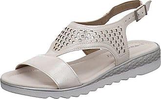 Tamaris 28713 20 Damen Modische Sandale aus Lederimitat Riemchen und Gummizug
