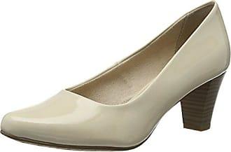 22448, Zapatos de Tacón Para Mujer, Beige (Cream Patent 452), 40 EU Tamaris