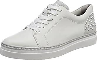 23703, Sneakers Basses Femme, Blanc (White/Silver), 42 EUTamaris