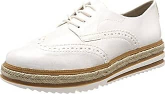 Tamaris 23789, Zapatillas Para Mujer, Blanco (White Struct.), 42 EU