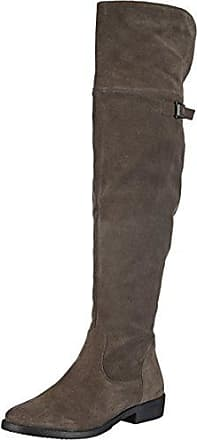 SHOWHOW Damen Overknee Langschaft Stiefel Biker Boots Schwarz 42 EU
