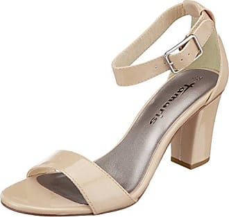 28028, Sandales Bride Cheville Femme, Marron (Brandy), 38 EUTamaris