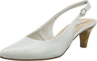 Tamaris 29400, Damen Slingback Pumps, Weiß (White Leather 117), 38 EU (5 Damen UK)