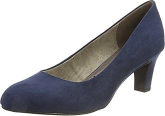 22436, Zapatos de Tacón Para Mujer, Azul (Navy), 40 EU Tamaris