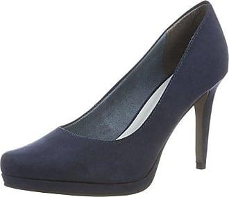22446, Zapatos de Tacón para Mujer, Azul (Navy 805), 38 EU Tamaris